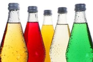 газированные напитки в бутылках