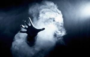 рука в дыму