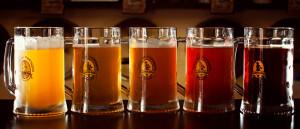 пять кружек пива