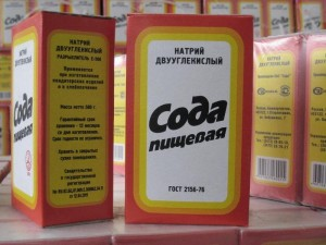 пищевая сода в упаковке