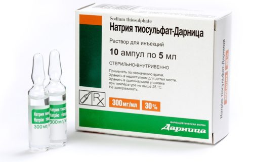 натрия тиосульфат ампулы