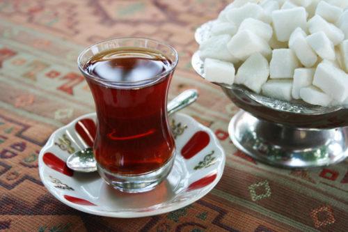 сладкий и крепкий чай
